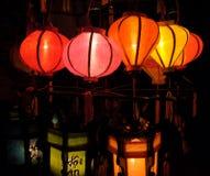Lanterne Handcrafted in città antica Hoi An, Vietnam Fotografie Stock