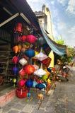 Lanterne Handcrafted in città antica Hoi An, Vietnam Fotografie Stock Libere da Diritti