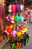 Lanterne Handcrafted in città antica Hoi An, Vietnam Immagine Stock Libera da Diritti