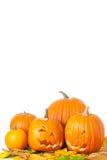 Lanterne intagliate di Halloween Jack O Fotografie Stock