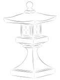 Lanterne japonaise de pagoda Images libres de droits
