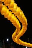 Lanterne jaune chinoise Images libres de droits