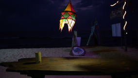 Lanterne lumineuse en café banque de vidéos