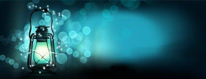 Lanterne magique de nuit Résumé illustration de vecteur