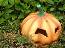 Lanterne orange de Jack o de potiron de Veille de la toussaint Image stock