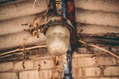 Lanterne près de la maison Photo stock