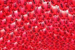 Lanterne rosse Fotografia Stock Libera da Diritti