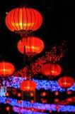 Lanterne rosse cinesi Immagine Stock Libera da Diritti