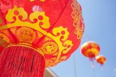 Lanterne rosse cinesi Immagine Stock