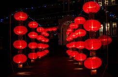 Lanterne rosse cinesi Immagini Stock
