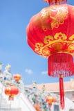 Lanterne rosse cinesi Fotografie Stock