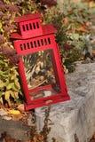 Lanterne rouge dans l'automne 2 Photos stock