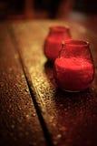 Lanterne rouge de bougie de Noël Photo libre de droits