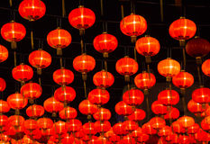Rouge-lanternes Photos stock