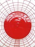Lanterne rouge le fait main Fin vers le haut images stock