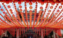 Lanterne s'arrêtant au temple Image libre de droits