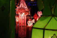 Lanterne thaïlandaise de loykratong Image libre de droits
