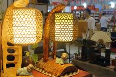 Lanterne traditionnelle chinoise d'éclairage Photos stock
