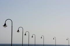 Lanterne in una fila Fotografie Stock