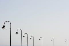 Lanterne in una fila Fotografie Stock Libere da Diritti