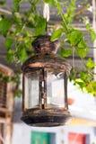Lanterne verre-métal Photographie stock
