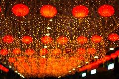 Lanternes asiatiques rouges Photo libre de droits