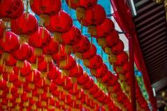 Lanternes au temple de Keng de vin du Rhin de Thian à Singapour - 5 Photo stock