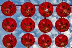 Lanternes au temple de Keng de vin du Rhin de Thian à Singapour - 3 Images stock