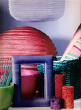 Lanternes avec des bougies Photographie stock