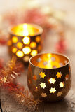 Lanternes brûlantes Photos stock