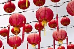 Lanternes chinoises au temple de Thean Hou, Kuala Lumpur Photographie stock