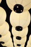 Lanternes chinoises blanches Images libres de droits