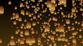 Lanternes chinoises de ciel clips vidéos