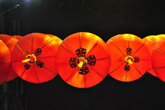 Lanternes chinoises de rouge de nouvelle année Photographie stock