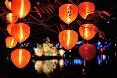 Lanternes chinoises pendant la nouvelle année chinoise Photos libres de droits