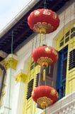 Lanternes chinoises s'arrêtantes Photos libres de droits