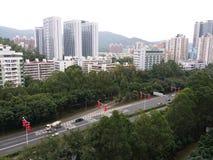 Lanternes chinoises sur des rues Image libre de droits
