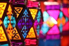 Lanternes colorées de Diwali Images libres de droits