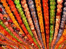 Lanternes colorées sur l'anniversaire de Bouddha Photo libre de droits