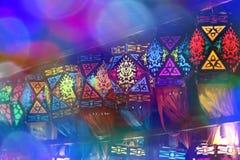 Lanternes colorées de Diwali Photographie stock libre de droits