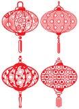 Lanternes contemporaines chinoises de conception réglées