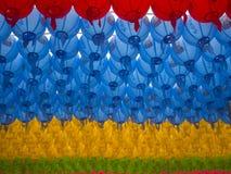Lanternes coréennes colorées Image stock