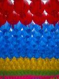 Lanternes coréennes colorées Photographie stock libre de droits