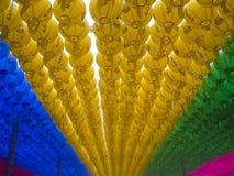 Lanternes coréennes colorées Photo stock