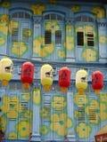 Lanternes dans Chinatown, Singapour Photographie stock libre de droits