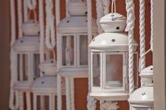 Lanternes dans Kefalonia, Grèce Image libre de droits