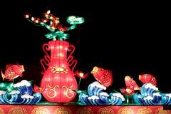 Lanternes de carpe et lanterne de vase Photo libre de droits