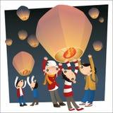 Lanternes de ciel de vol Photo stock