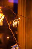 Lanternes de décorations de Noël Image libre de droits