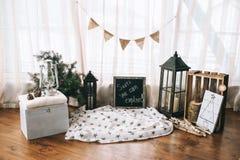 Lanternes de décorations de Noël Photo stock